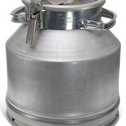 Термосы и термокружки - Фляга для молока алюминиевая 25 литров, 0