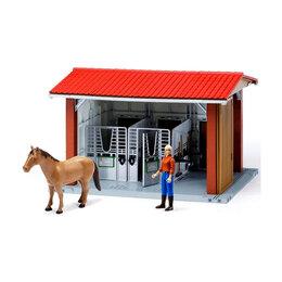 Куклы и пупсы - Игровой набор Bruder Конюшня с всадницей и лошадью, 0