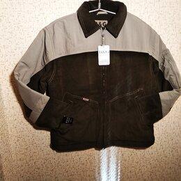 Куртки - Новая мужская зимняя куртка из хб микровельвета  30-34 р, 0