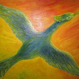 """Картины, постеры, гобелены, панно - Картина """"Птица счастья"""". Автор Ирина Гемпель. Холст, масло., 0"""