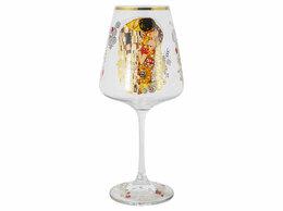 "Бокалы и стаканы - Бокал для вина белый с золотым 500 мл ""Поцелуй.…, 0"