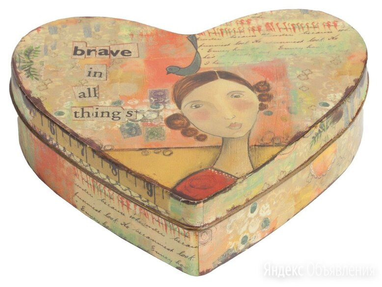 Металлическая коробка (шкатулка) с девушкой Brave по цене 1521₽ - Корзины, коробки и контейнеры, фото 0