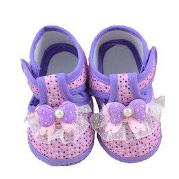 Ботинки - Детские ботинки с бантом, 0