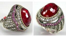 Кольца и перстни - Серебряное кольцо с турмалином., 0