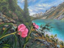 """Картины, постеры, гобелены, панно - картина маслом """"Горное озеро"""", 0"""
