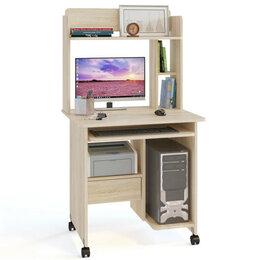 Компьютерные и письменные столы - Компьютерный стол с надстройкой КСТ-10.1 + КН-01, 0
