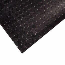 Садовые дорожки и покрытия - Резиновое покрытие пятачок 3.5х1000 мм, черный, 0
