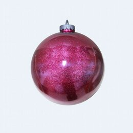 Новогодний декор и аксессуары - Шар для ТЦ 250 мм, ярко-розовый (маджента), 0