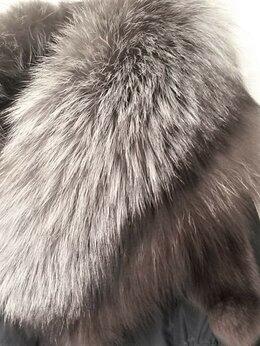 Пуховики - Пуховик с чернобуркой, из натурального пуха,…, 0