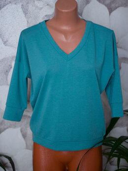 Блузки и кофточки - Кофточка бирюзовая трикотажная, 0