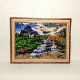 Картины, постеры, гобелены, панно - Готовая алмазная картина мозаика «Водопад».., 0