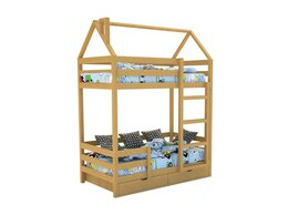 Кроватки - Кровать-домик «SCANDI» Двухъярусная Дерево, 0