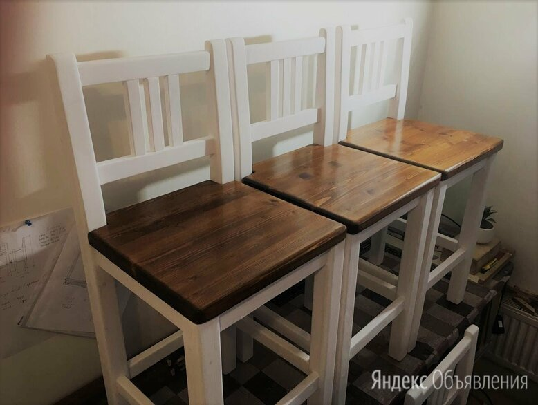 Стулья барные деревянные по цене 3500₽ - Стулья, табуретки, фото 0