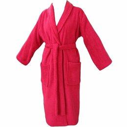 Домашняя одежда - Халат подростковый махровый ЭЛИТ с капюшоном Коралловый размер 152/158, 0