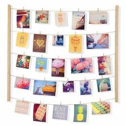 Фотоальбомы - Панно с зажимами для 40 фотографий hangit дерево, 0