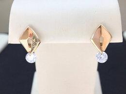 Серьги - Золотые серьги с Фианитами, Женские - проба 585°, 0