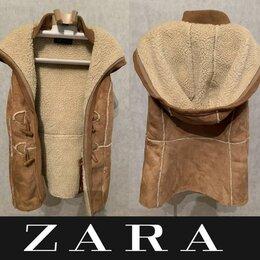 Жилеты -  Безрукавка женская брендовый тёплый жилет Zara, 0