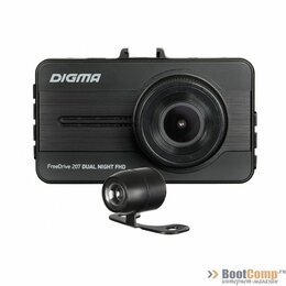 Видеорегистраторы - Видеорегистратор Digma FreeDrive 207 Dual Night FHD черный, 0