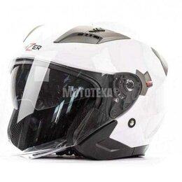Мотоэкипировка - Шлем мото HIZER (Хайзер) 227 (L) #2 white, 0