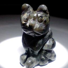 Статуэтки и фигурки - Статуэтка Кот из минерала лабрадор, выс. 4 см , 0