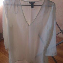 Блузки и кофточки -  Полупрозрачная белая блузка, 0