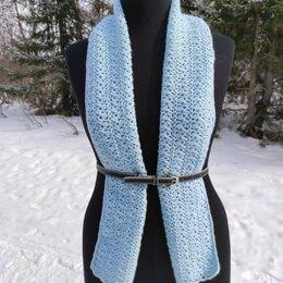 Шарфы, платки и воротники - Ажурный шарф крючком, 0