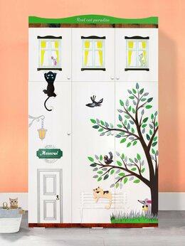 Шкафы, стенки, гарнитуры - Шкаф в детскую дизайнерский с объемной отделкой, 0