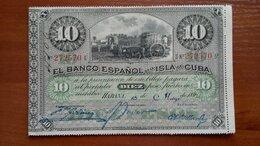 Банкноты - КУБА 10 песо 1896 г., 0