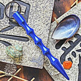 Ключи и брелоки - Тактический брелок Kubotan Dark Blue Aluminum, 0