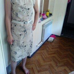 Платья - Льняное платье размер 48-50, 0