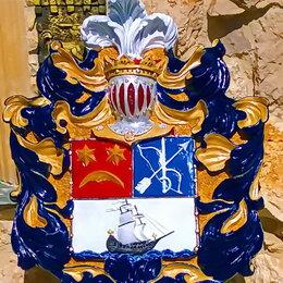 Флаги и гербы - Рыцарский герб с наметом и щитом, 0