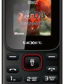 Мобильные телефоны -  Texet TM-128 Black/Red , 0