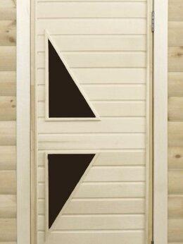 Двери - Банная дверь липа остекленная ПО-7, 0