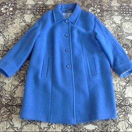 Пальто - Пальто синее 56 размер, 0