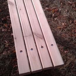 Скамейки - Лавочка из дерева 125х40х30 см., 0