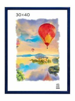 Фоторамки - Рамка 30*40 пластик синяя Zebra арт. 504 /15, 0