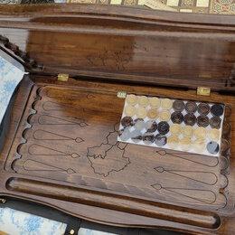 Настольные игры - нарды деревянные подарочные, эксклюзивная ручная работа, 0