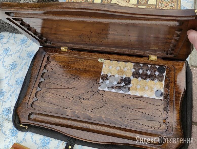 нарды деревянные подарочные, эксклюзивная ручная работа по цене 11000₽ - Настольные игры, фото 0