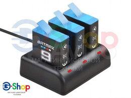 Аксессуары для экшн-камер - Зарядное устройство на 3 акб GoPro 9, 0