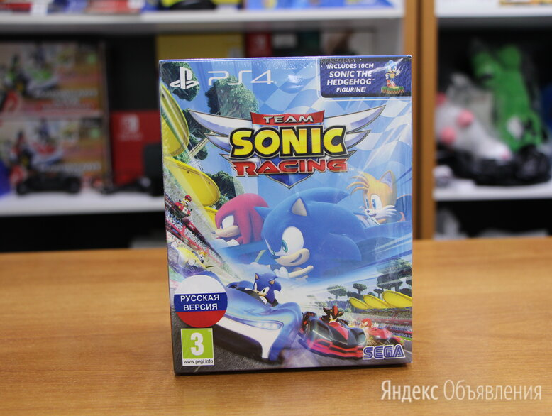 Sonic Team Racing + Фигурка 10см - PS4 Новый по цене 3490₽ - Игровые приставки, фото 0