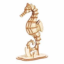 Рукоделие, поделки и товары для них - Деревянный конструктор (3D пазлы) Морской конек…, 0