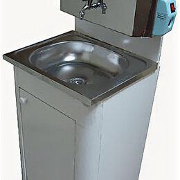 Умывальники - Умывальник с водонагревателем 20 л и раковиной из нержавеющей стали (белый), 0