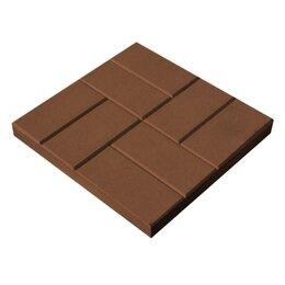 Тротуарная плитка, бордюр - Тротуарная плитка 400*400*50 8 кирпичей коричневая, 0