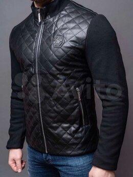 Куртки - Кожаная куртка philipp plein мужская, 0