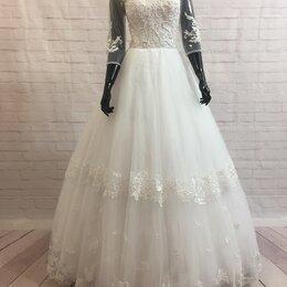 Платья - Пышное белое свадебное платье Маркела размер 42-44, 0