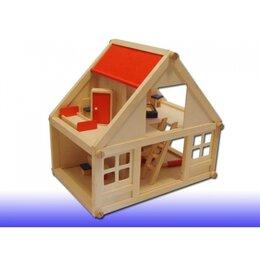 Игрушечная мебель и бытовая техника - Кукольный дом деревянный большой 8400 Винтик и Шпунтик, 0