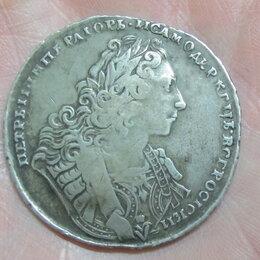 Монеты - серебряный рубль Петр 2, 1729 год, 0