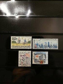 Марки - Почтовые марки (Чехословакия) 1970-е г.г.- 4 шт, 0