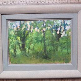 Картины, постеры, гобелены, панно - картина Лес весенний,холст,масло,НХ, 0