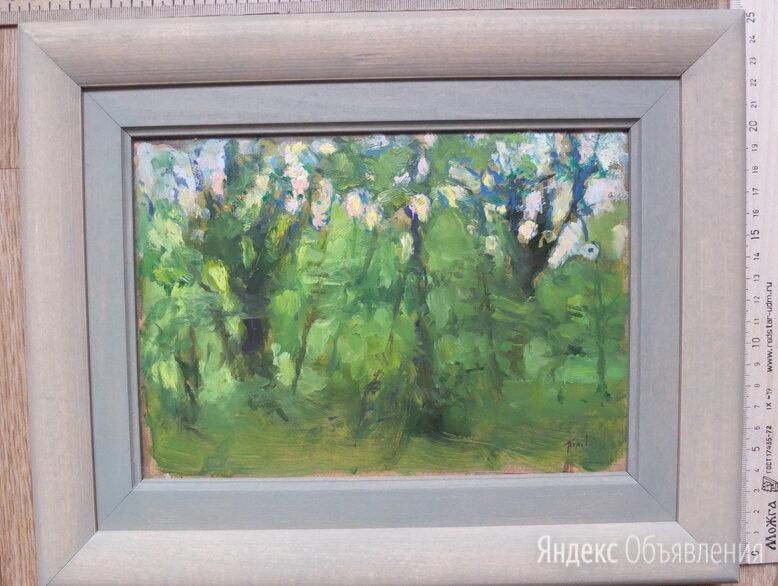 картина Лес весенний,холст,масло,НХ по цене 4500₽ - Картины, постеры, гобелены, панно, фото 0